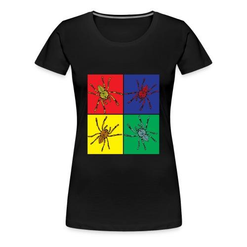 Pop Art Spinnen - Frauen Premium T-Shirt