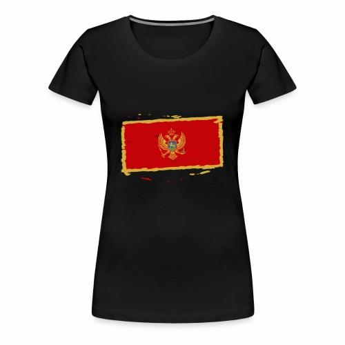 Црна Гора застава - Crna Gora zastava - Montenegro - Frauen Premium T-Shirt