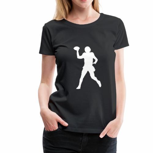 American Football Silhouette weiß - Frauen Premium T-Shirt