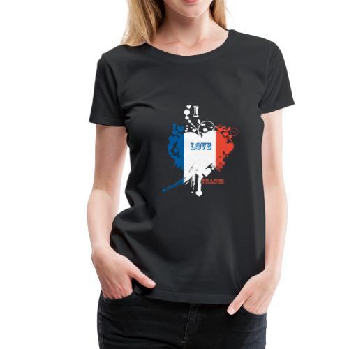 I LOVE France - T-shirt Premium Femme