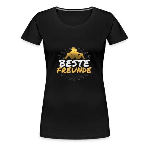 BESTE FREUNDE Geschenk Freundschaft Freundin - Frauen Premium T-Shirt