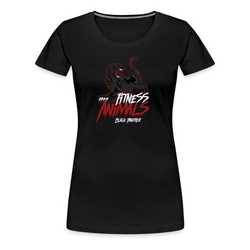 Fitness Animals - Black Panther - Frauen Premium T-Shirt