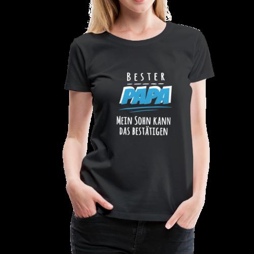 Bester PAPA Sohn Liebe Weihnachtsgeschenk Vater - Frauen Premium T-Shirt