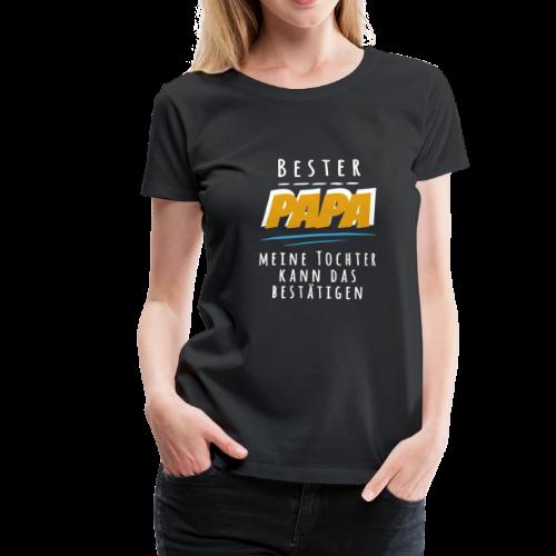 Bester PAPA Tochter Liebe Weihnachtsgeschenk Vater - Frauen Premium T-Shirt