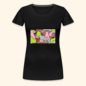 gezicht in kleur - Vrouwen Premium T-shirt