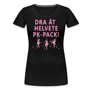DRA ÅT HELVETE PK-PACK! Tygväska - Premium-T-shirt dam