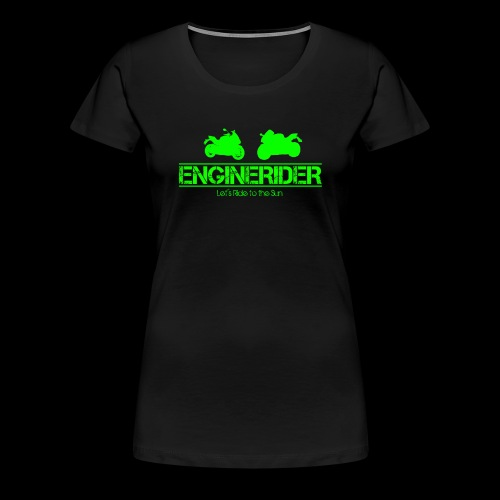 ENGINERIDER MOTO - Frauen Premium T-Shirt