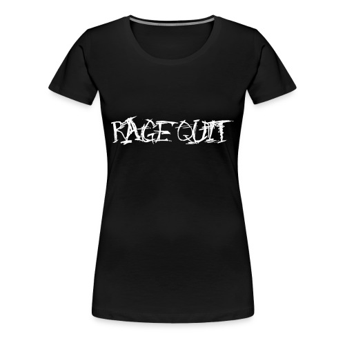 Rage Quit White Edition - Frauen Premium T-Shirt
