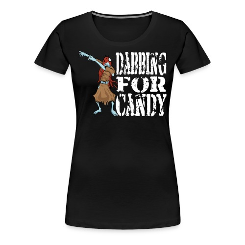 Funny Halloween Zombie Girl Dabbing For Candy. Trick or Treat Candy Lover Gift - Women's Premium T-Shirt