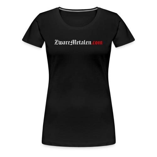 ZwareMetalen.com uitgeschreven - Vrouwen Premium T-shirt