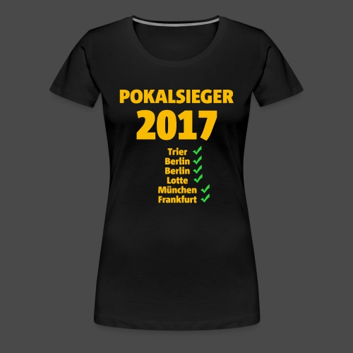Pokalsieger 2017 gelb - Frauen Premium T-Shirt