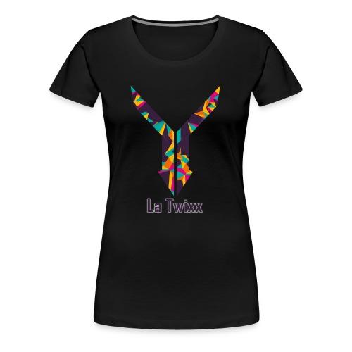 Logo LaTwixx & Schriftzug - Frauen Premium T-Shirt