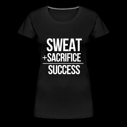 Erfolg Motivation Fitness T-shirt Englisch - Frauen Premium T-Shirt