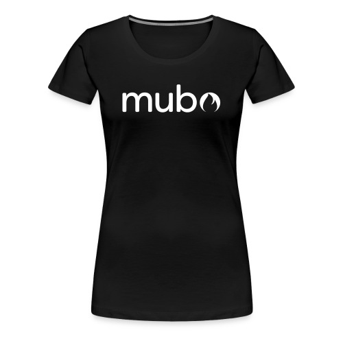 mubo logo Word White - Women's Premium T-Shirt