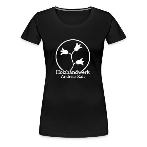 White Holzhandwerk logo - Women's Premium T-Shirt