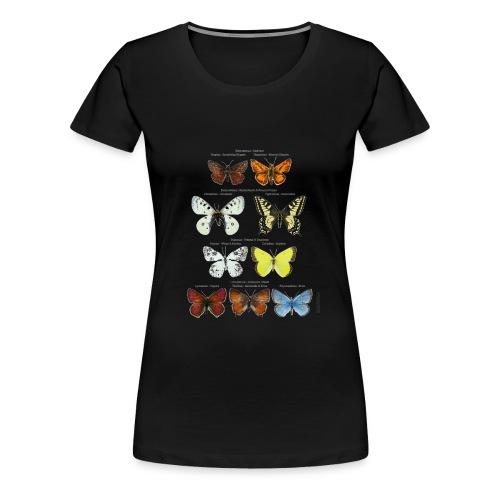 Mariposas clasificación zoología - Camiseta premium mujer