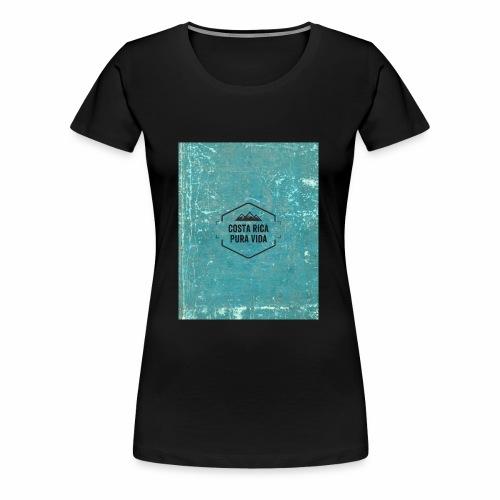 Costa Rica Camiseta Vintage - Camiseta premium mujer
