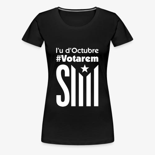 referendum 2017 blanc - Camiseta premium mujer