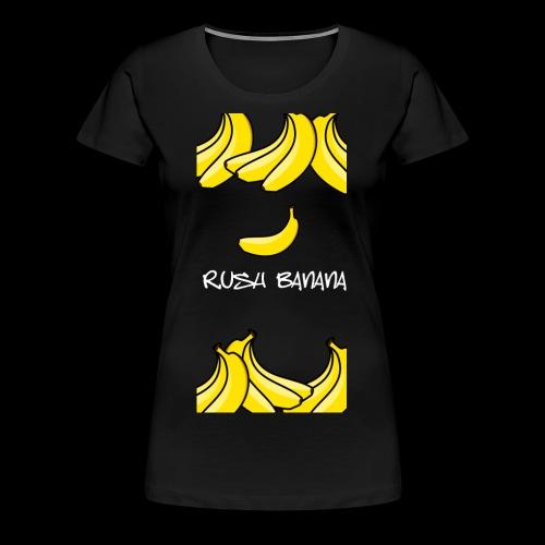 rushbananawhite - Koszulka damska Premium