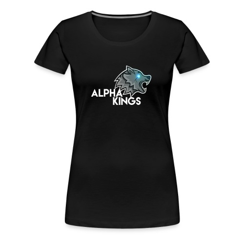 logo Alpha Kings white - T-shirt Premium Femme