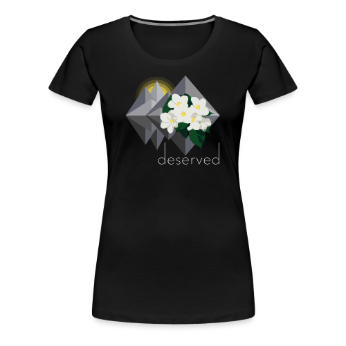 Deserved - EP logo with text - Premium-T-shirt dam