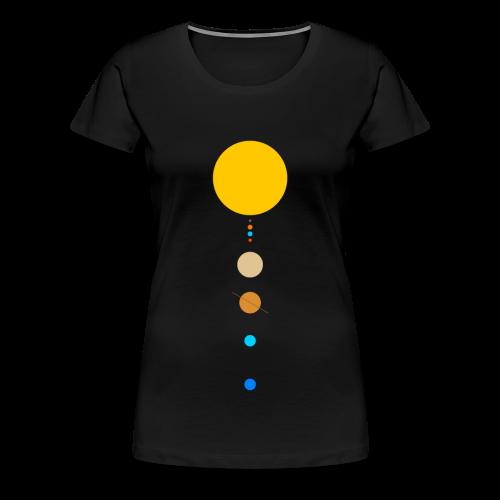 Sonnensystem - Frauen Premium T-Shirt