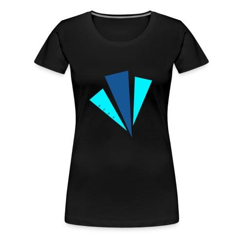 Blauwe objecten ontwerp - Vrouwen Premium T-shirt