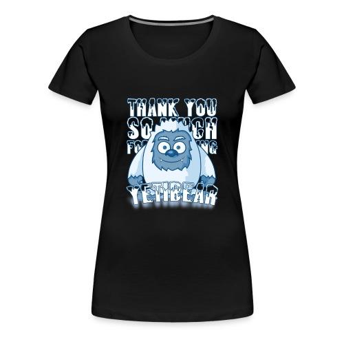 Yeti Design - Vrouwen Premium T-shirt