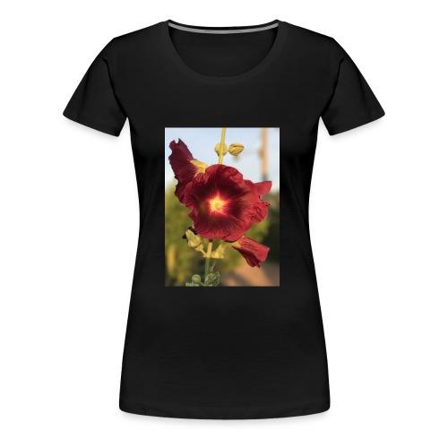 Red Hollyhock - Women's Premium T-Shirt