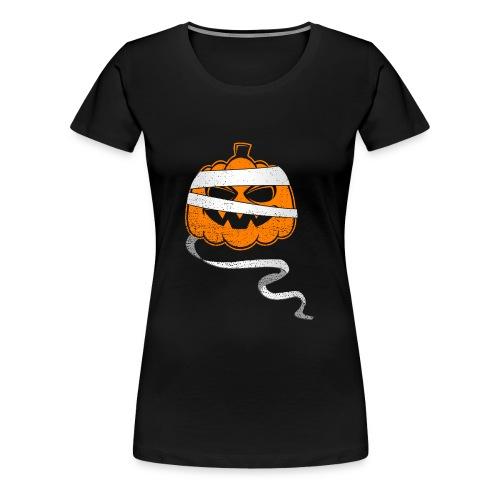 Halloween Bandaged Pumpkin - Frauen Premium T-Shirt