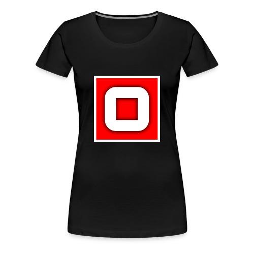 Vanlig Logo (tonåring) - Premium-T-shirt dam