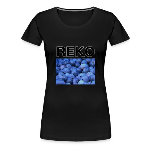 REKOpaita mustikka - Naisten premium t-paita