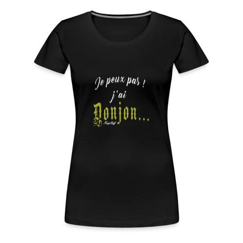 KeepStuff-Jaune-Donjon - T-shirt Premium Femme