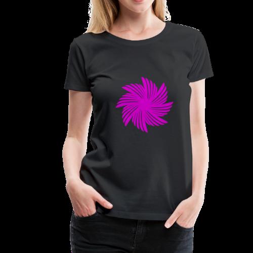 Flügelblume violett - Frauen Premium T-Shirt