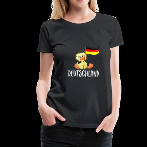 WEmmi Deutschland - Schrift in Weiß - Frauen Premium T-Shirt