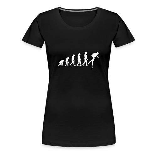 Tauchen Evolution Hobby Freizeit Leidenschaft - Frauen Premium T-Shirt