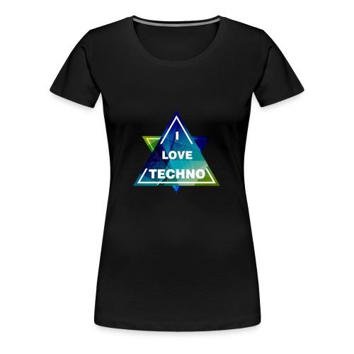 I LOVE TECHNO Shirt - Frauen Premium T-Shirt