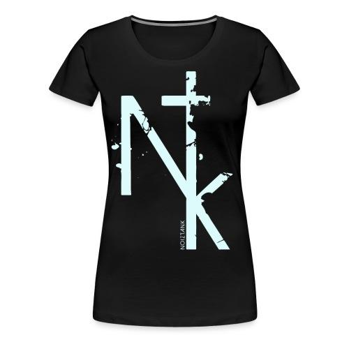NTK logo white - Frauen Premium T-Shirt