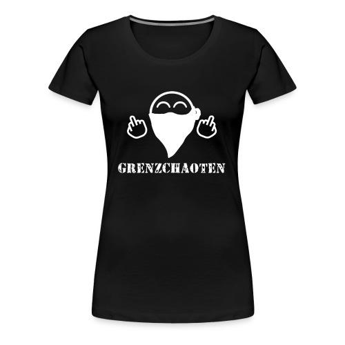 Grenzchaoten Logo Weiß - Frauen Premium T-Shirt