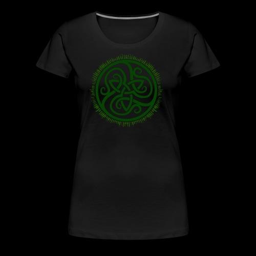 Green Celtic Triknot - Women's Premium T-Shirt