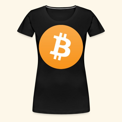 Bitcoin Logo Geschenk für Bitcoinsammler - Frauen Premium T-Shirt