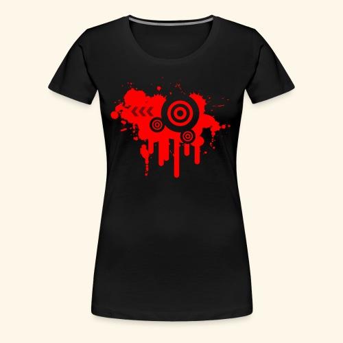 Grunge Vector Red! - Women's Premium T-Shirt