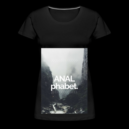ANALphabet. forrest waterfall - Frauen Premium T-Shirt