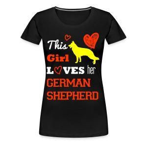 German shepherd - Frauen Premium T-Shirt