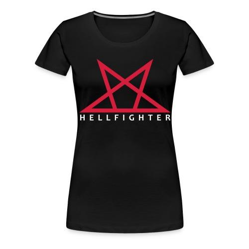 HELLFIGHTER PENTAGRAM red - Frauen Premium T-Shirt