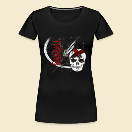 Radball | Cycle Ball Skull - Frauen Premium T-Shirt