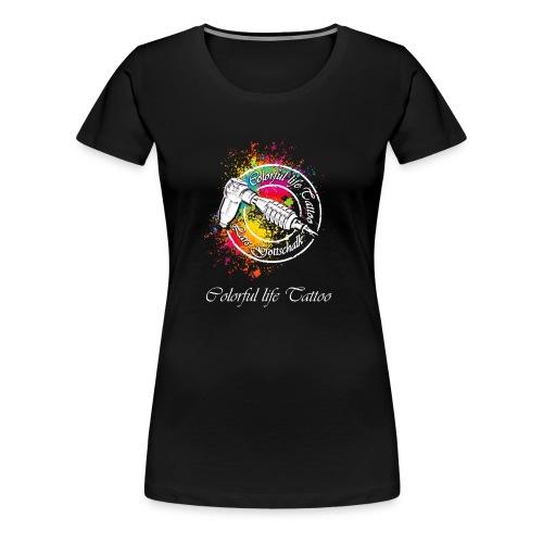 Colorful life Tattoo Logo, Farbklecks - Frauen Premium T-Shirt