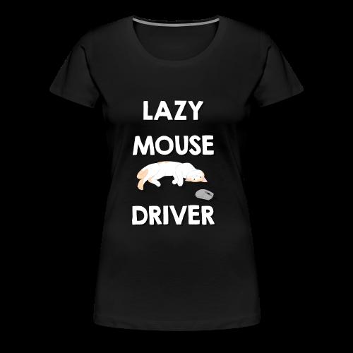 Faule Maustreiber Computer Nerd Informatik Katze - Frauen Premium T-Shirt