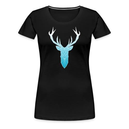 Hirschkopf mit Geweih - hellblau - Frauen Premium T-Shirt