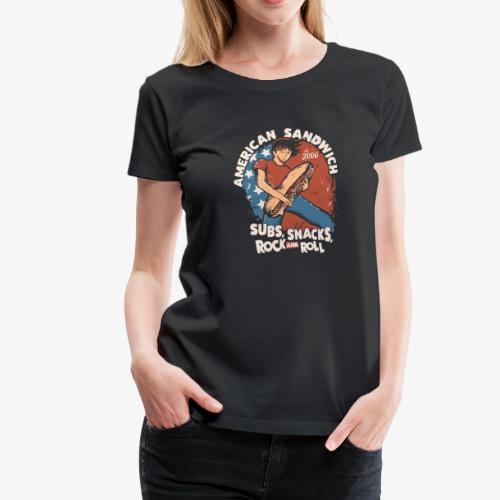 American Sandwich Rocker hell - Frauen Premium T-Shirt